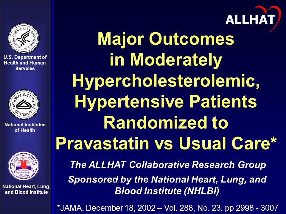 Hypercholesterolemic, Hypertensive Patients Randomized to