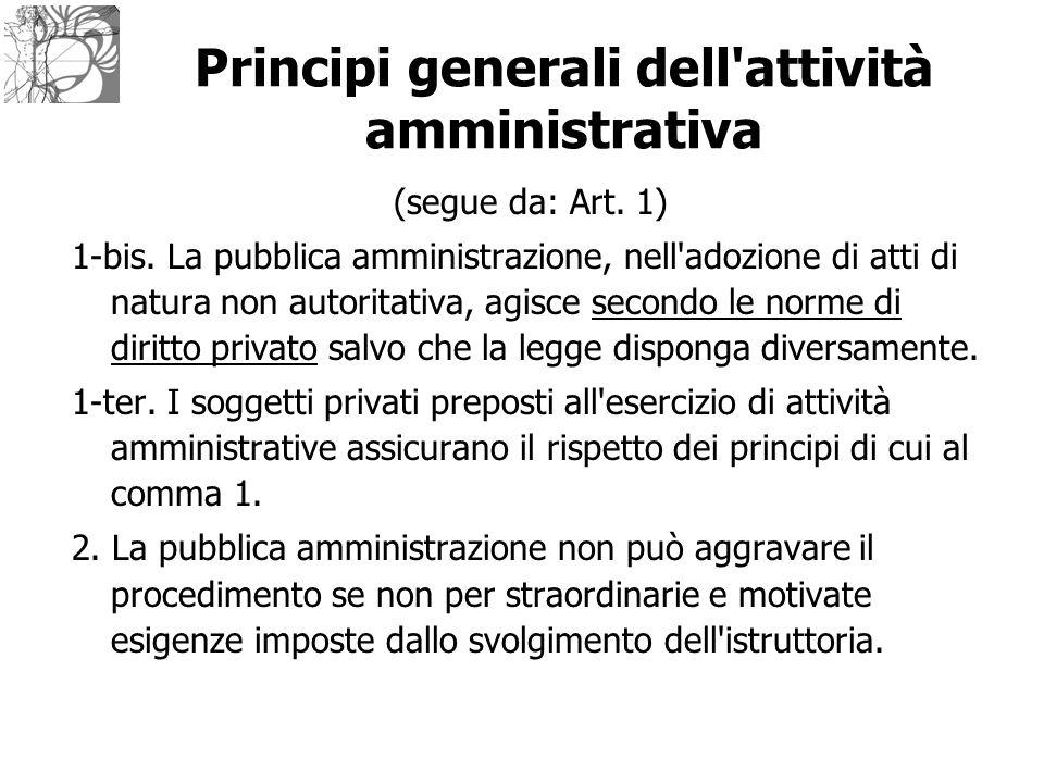 Principi generali dell attività amministrativa