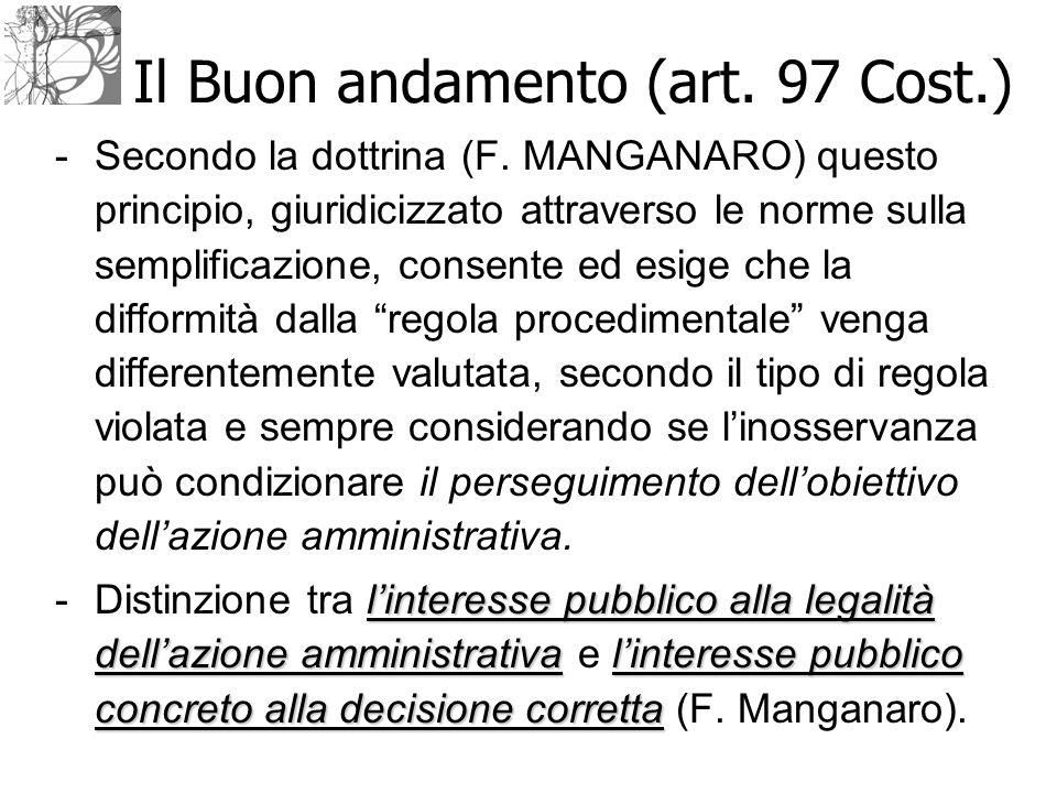 Il Buon andamento (art. 97 Cost.)