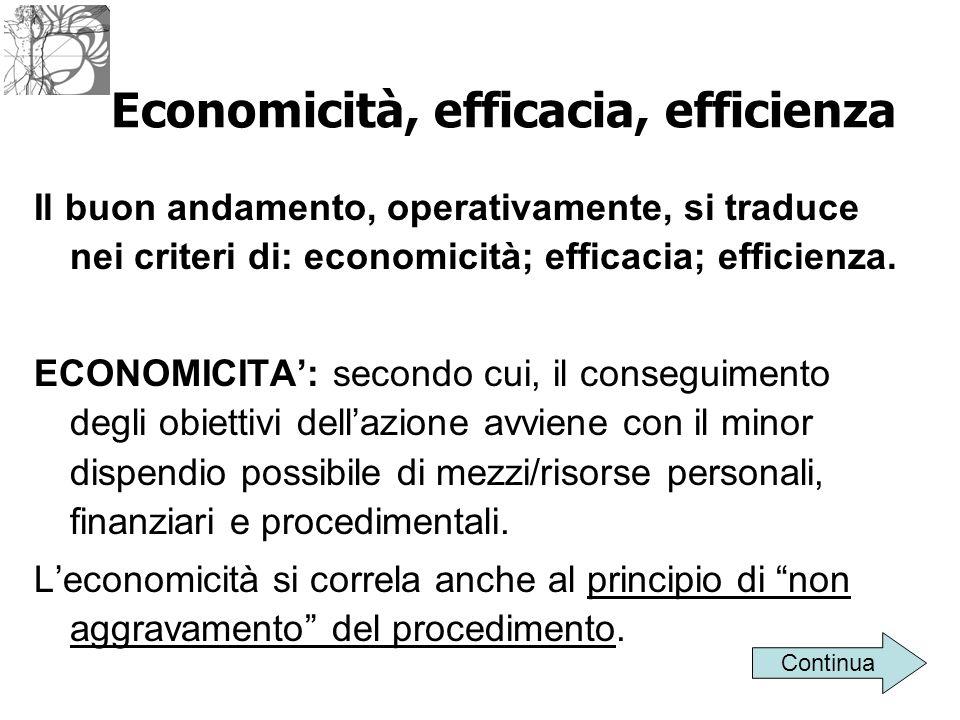 Economicità, efficacia, efficienza