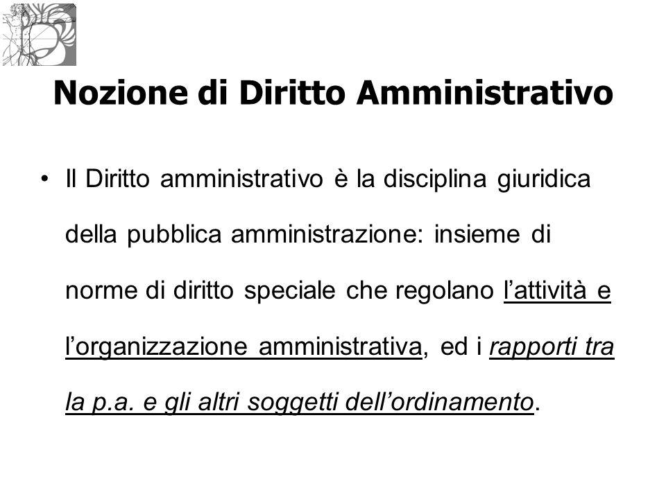 Nozione di Diritto Amministrativo