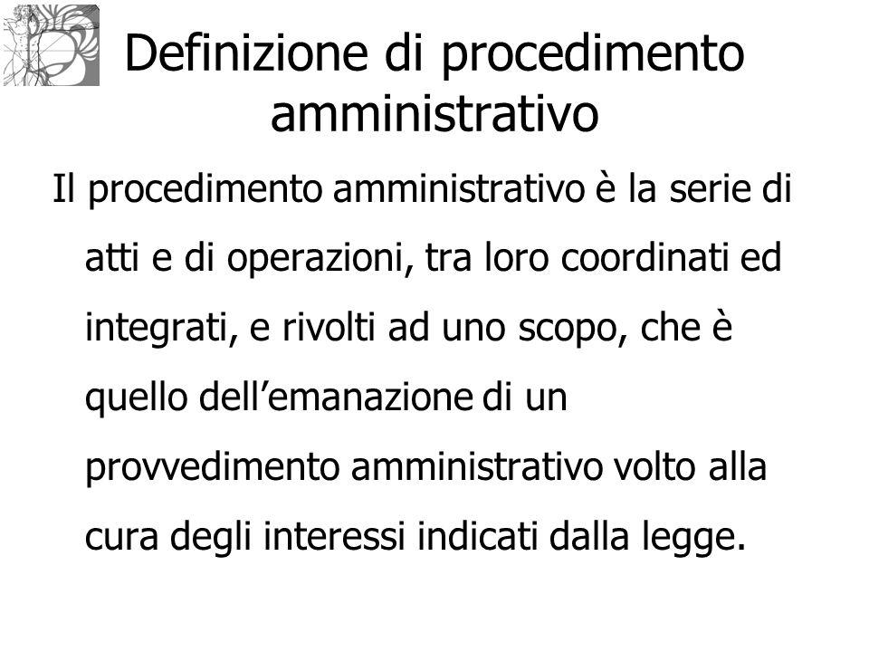Definizione di procedimento amministrativo