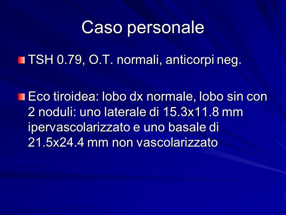 Caso personale TSH 0.79, O.T. normali, anticorpi neg.