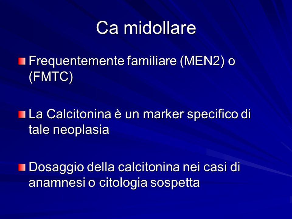 Ca midollare Frequentemente familiare (MEN2) o (FMTC)