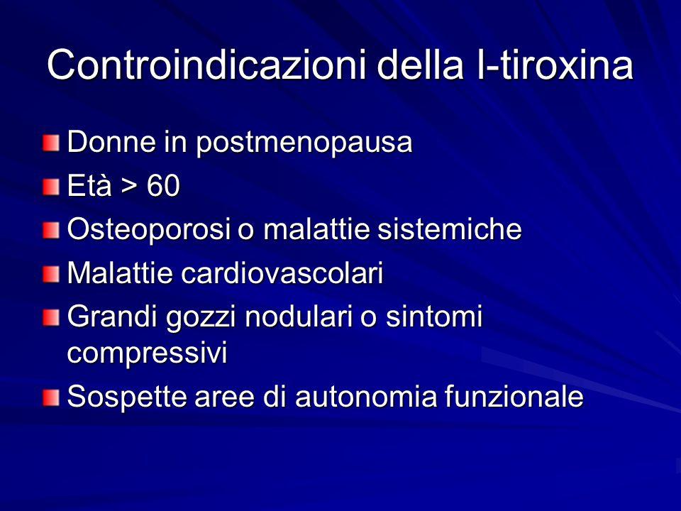 Controindicazioni della l-tiroxina