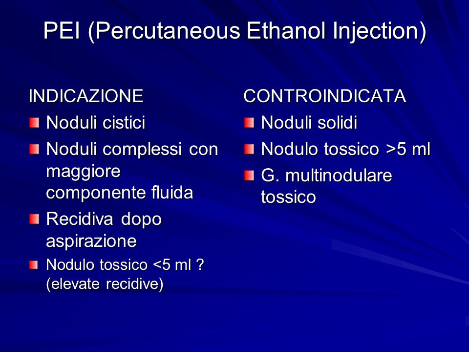 PEI (Percutaneous Ethanol Injection)