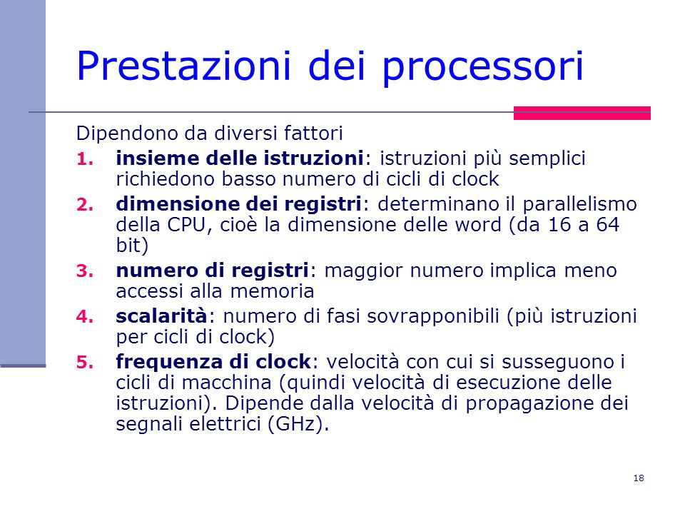Prestazioni dei processori