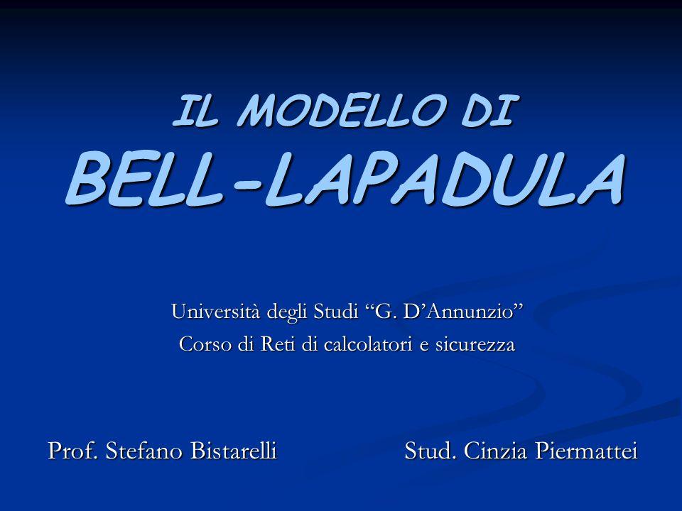 IL MODELLO DI BELL-LAPADULA