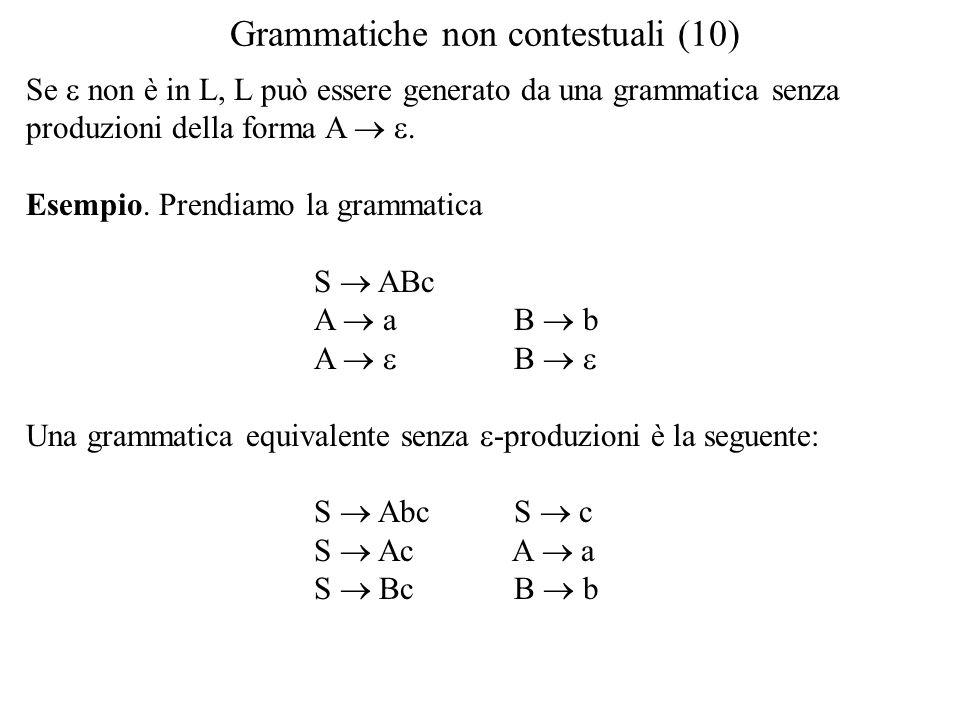 Grammatiche non contestuali (10)