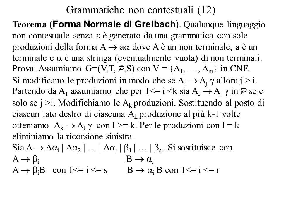 Grammatiche non contestuali (12)