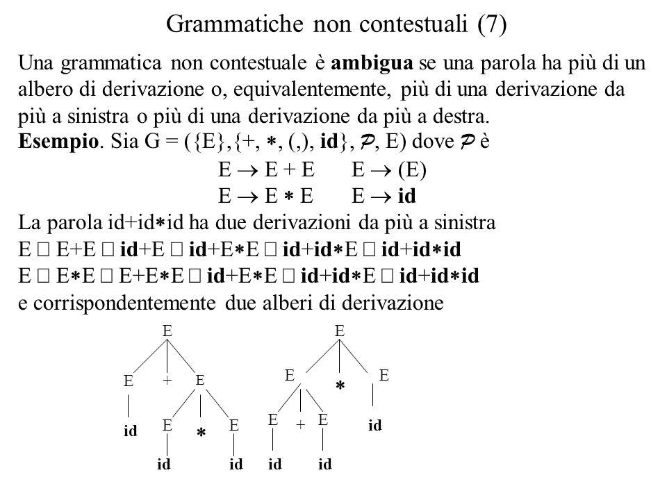 Grammatiche non contestuali (7)