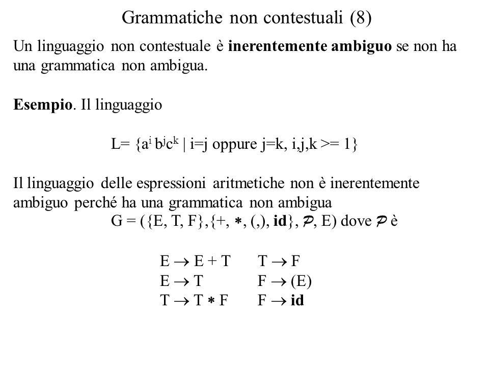 Grammatiche non contestuali (8)