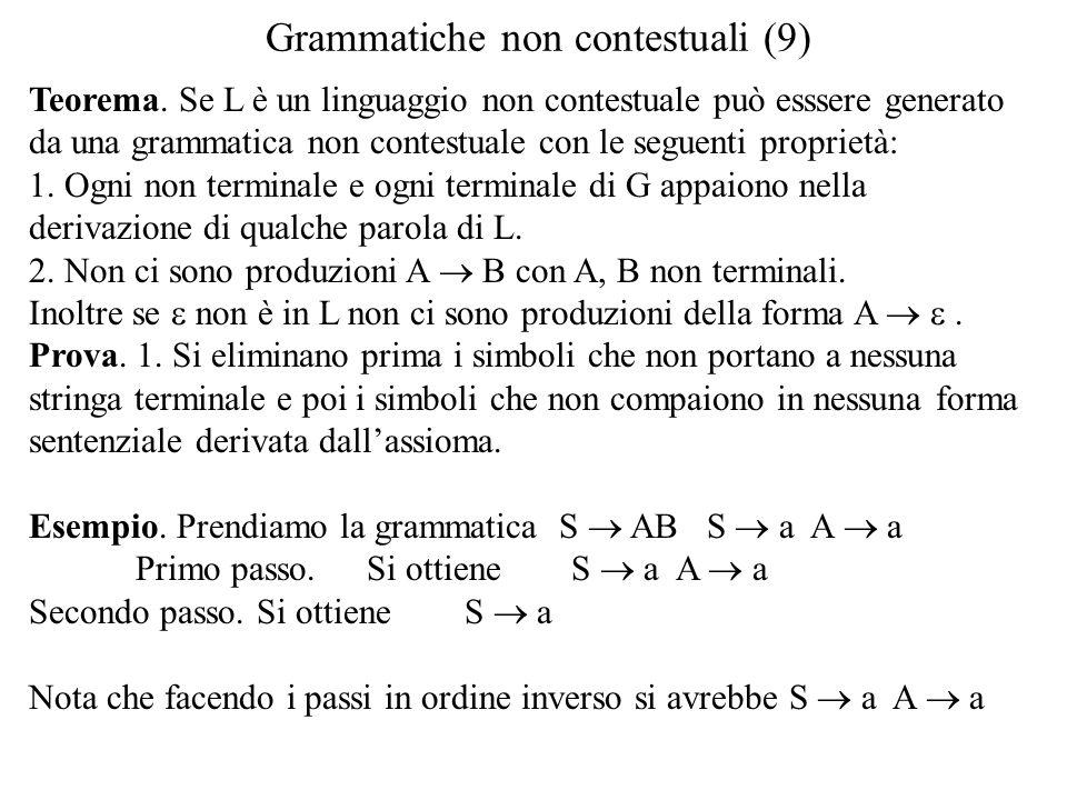 Grammatiche non contestuali (9)
