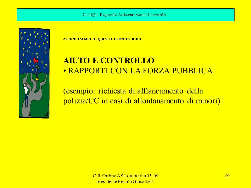 RAPPORTI CON LA FORZA PUBBLICA