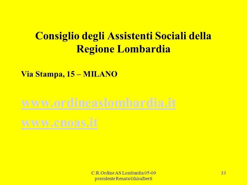 Consiglio degli Assistenti Sociali della Regione Lombardia