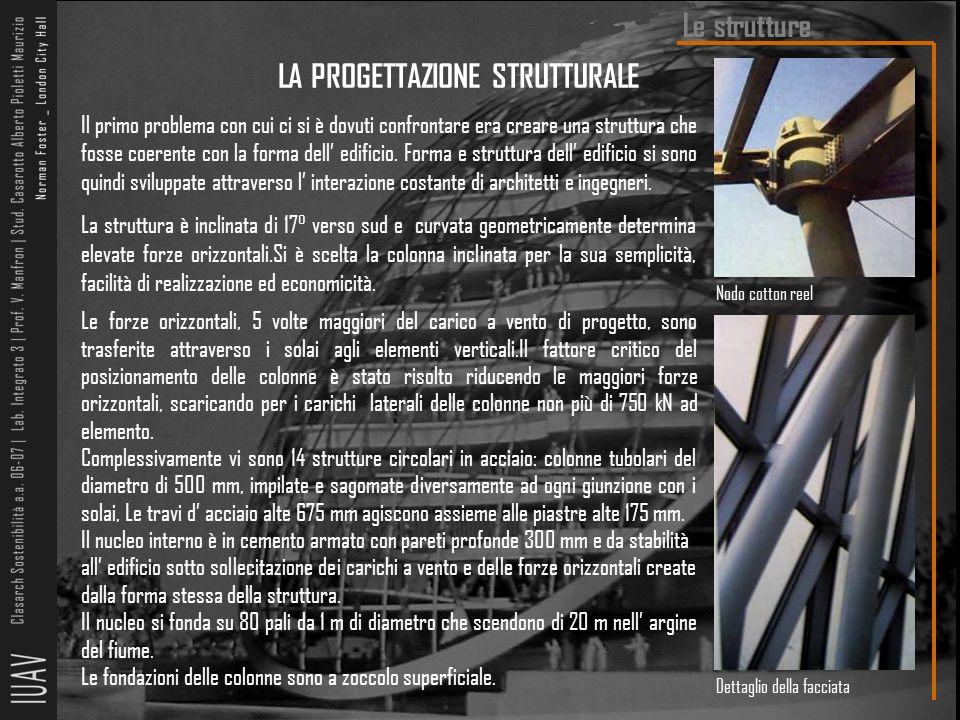 LA PROGETTAZIONE STRUTTURALE