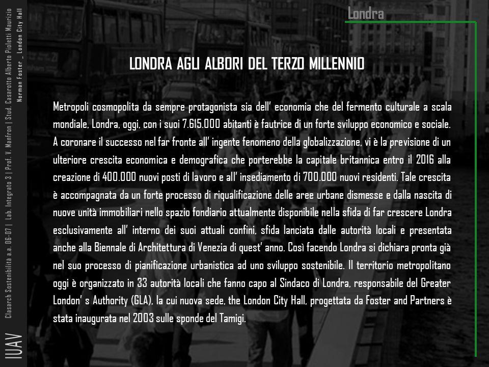 LONDRA AGLI ALBORI DEL TERZO MILLENNIO