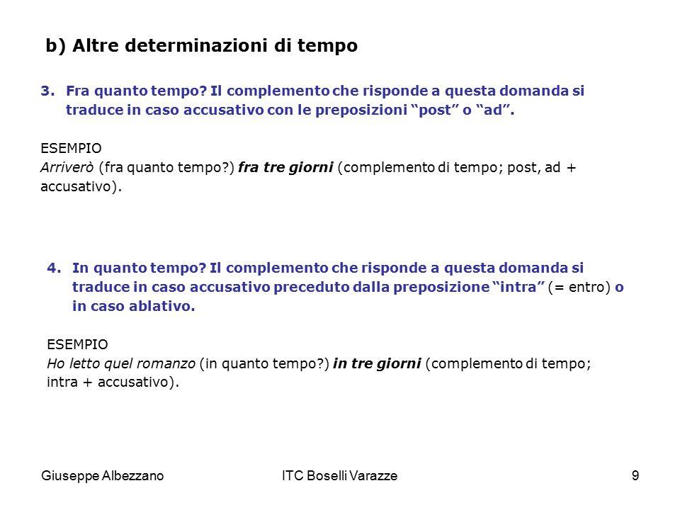 b) Altre determinazioni di tempo