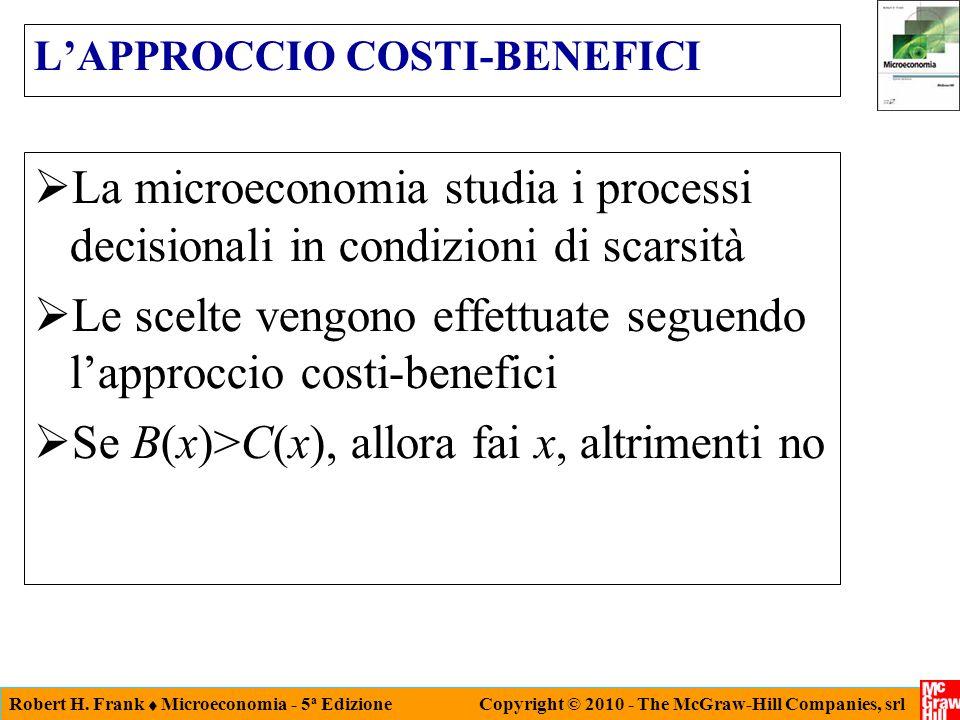 L'APPROCCIO COSTI-BENEFICI
