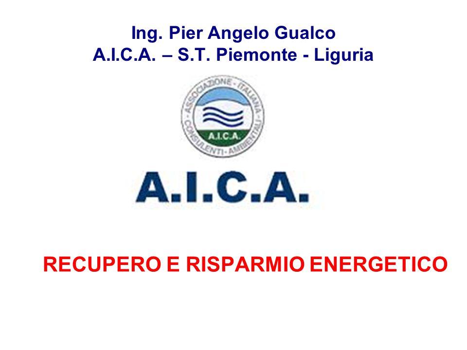 Ing. Pier Angelo Gualco A.I.C.A. – S.T. Piemonte - Liguria