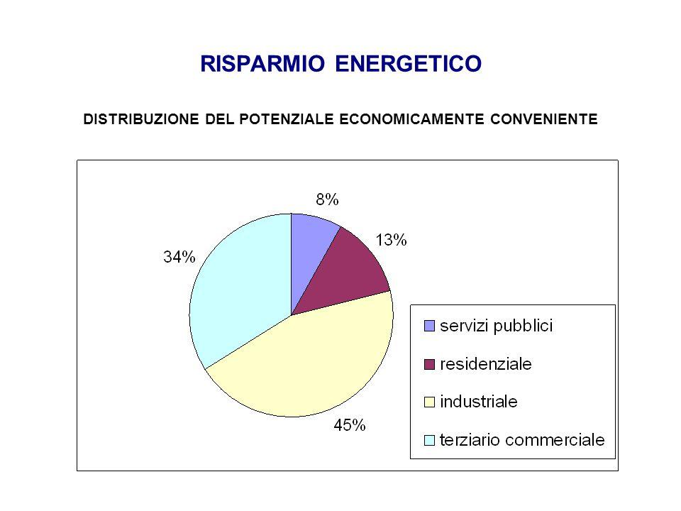 DISTRIBUZIONE DEL POTENZIALE ECONOMICAMENTE CONVENIENTE