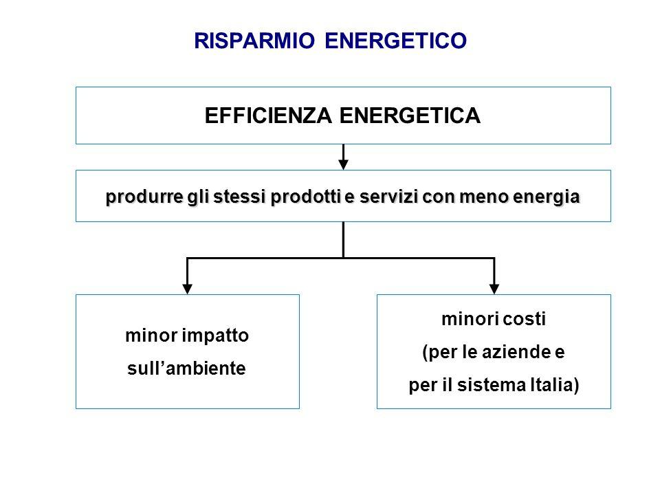RISPARMIO ENERGETICO EFFICIENZA ENERGETICA