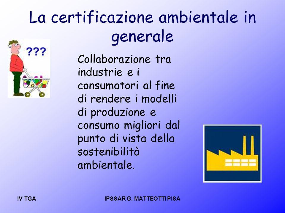 La certificazione ambientale in generale