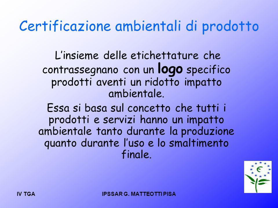 Certificazione ambientali di prodotto