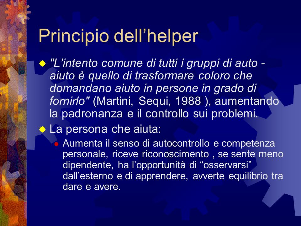 Principio dell'helper