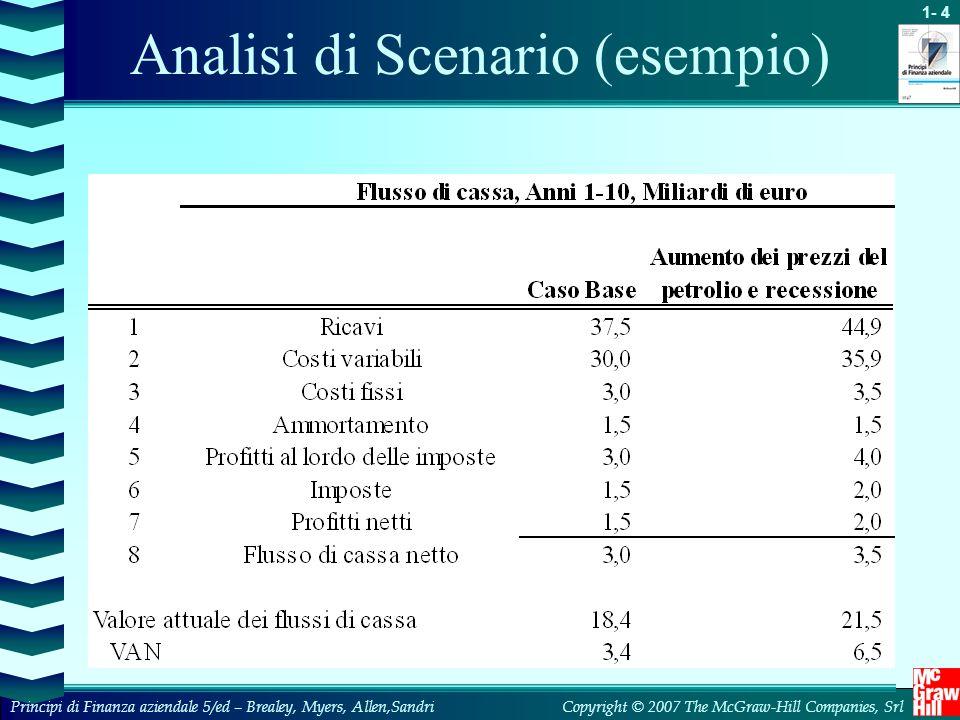 Analisi di Scenario (esempio)
