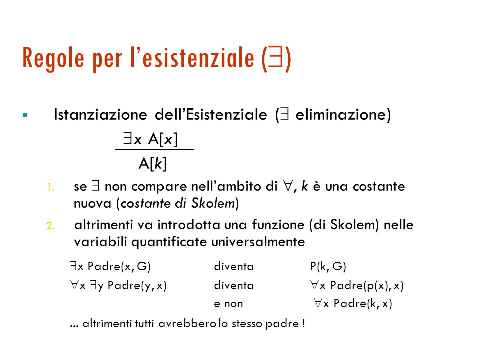 Regole per l'esistenziale ()