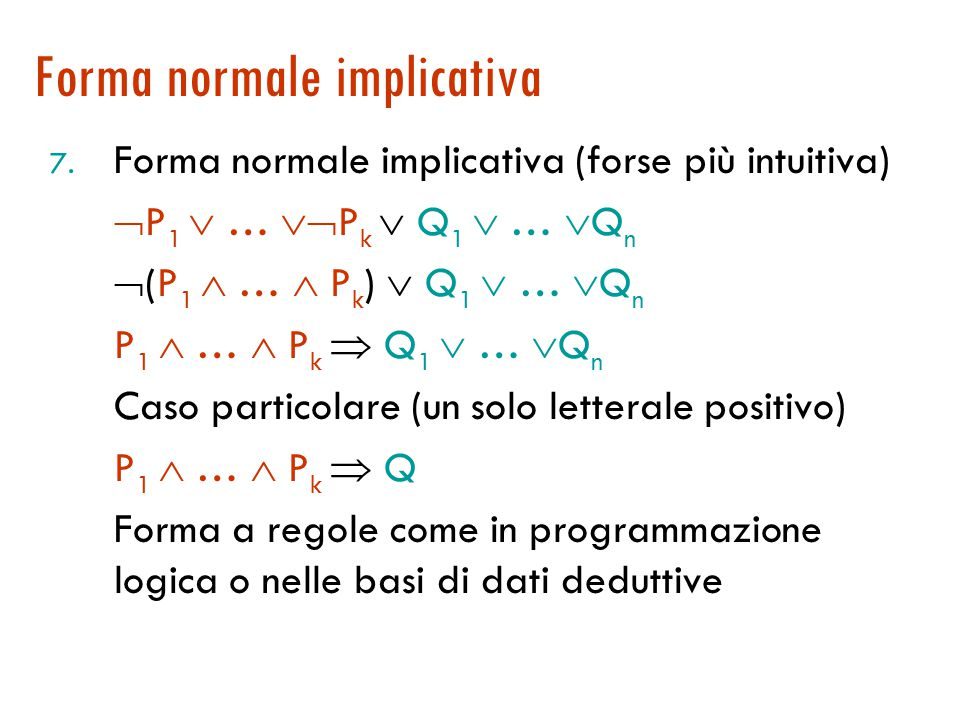 Forma normale implicativa