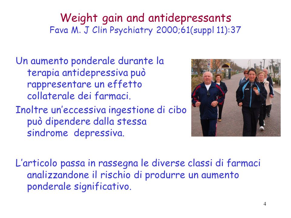 Weight gain and antidepressants Fava M