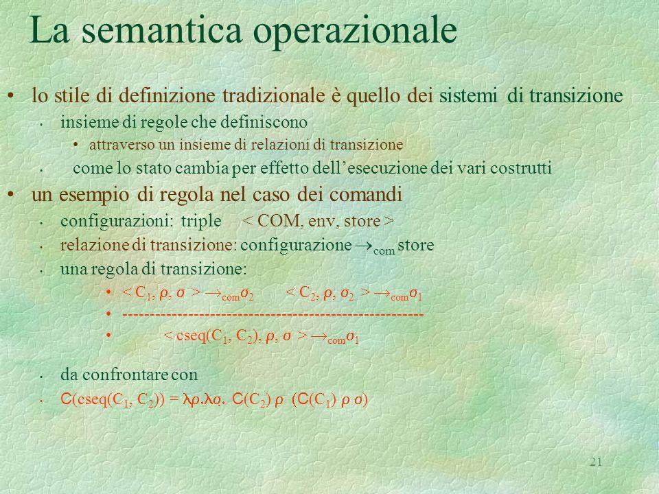 La semantica operazionale