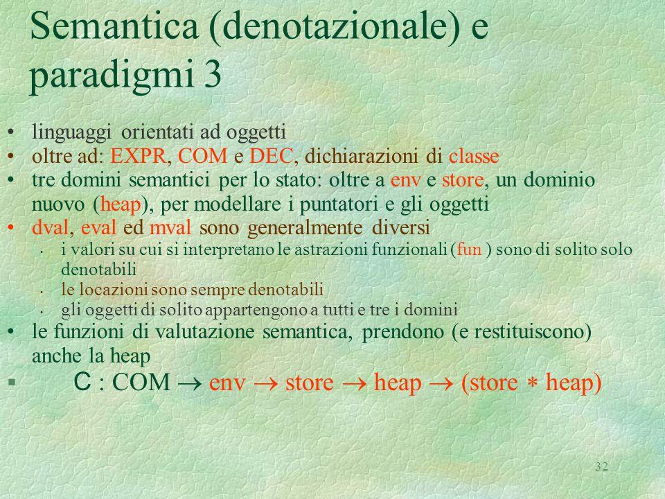 Semantica (denotazionale) e paradigmi 3