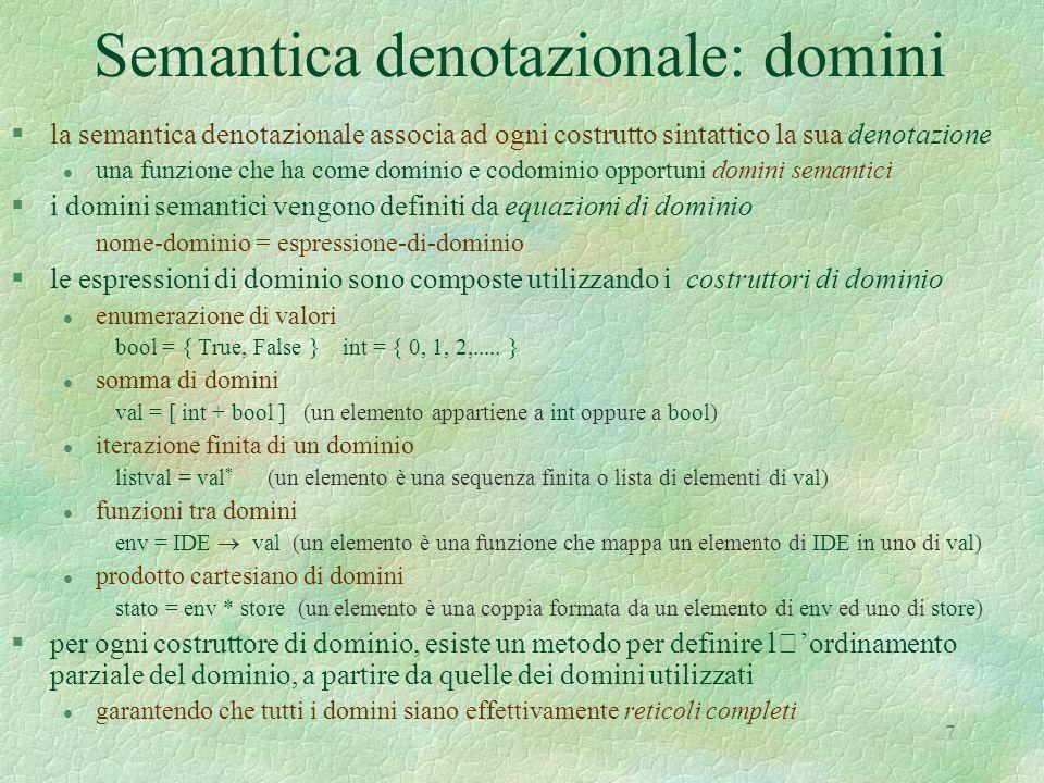 Semantica denotazionale: domini