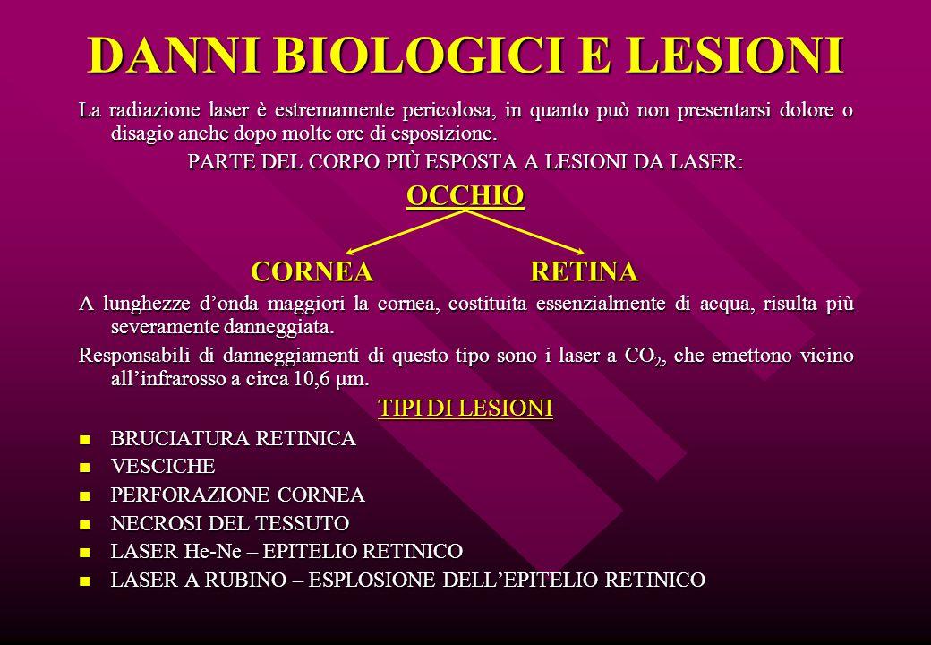 DANNI BIOLOGICI E LESIONI