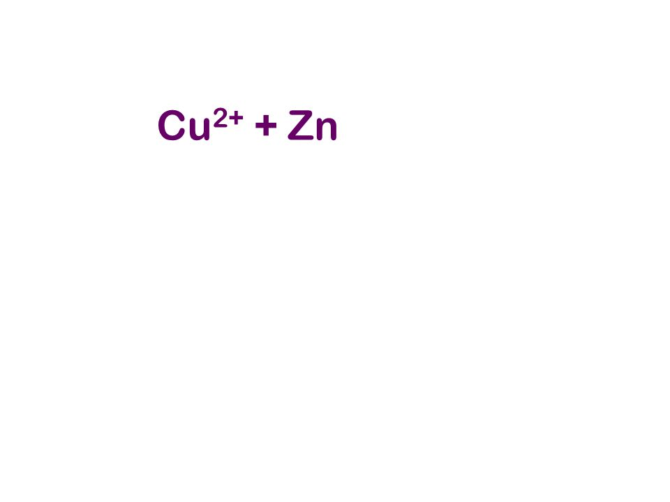 Cu2+ + Zn