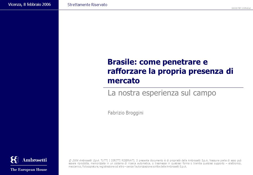 Brasile: come penetrare e rafforzare la propria presenza di mercato