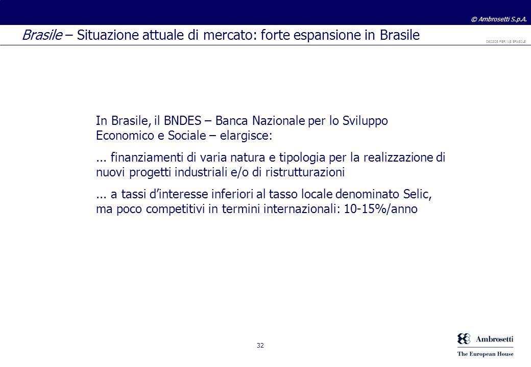 Brasile – Situazione attuale di mercato: forte espansione in Brasile