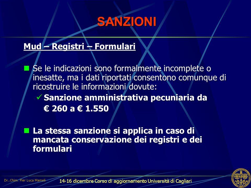 SANZIONI Mud – Registri – Formulari