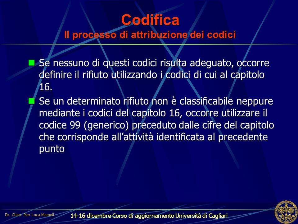 Codifica Il processo di attribuzione dei codici