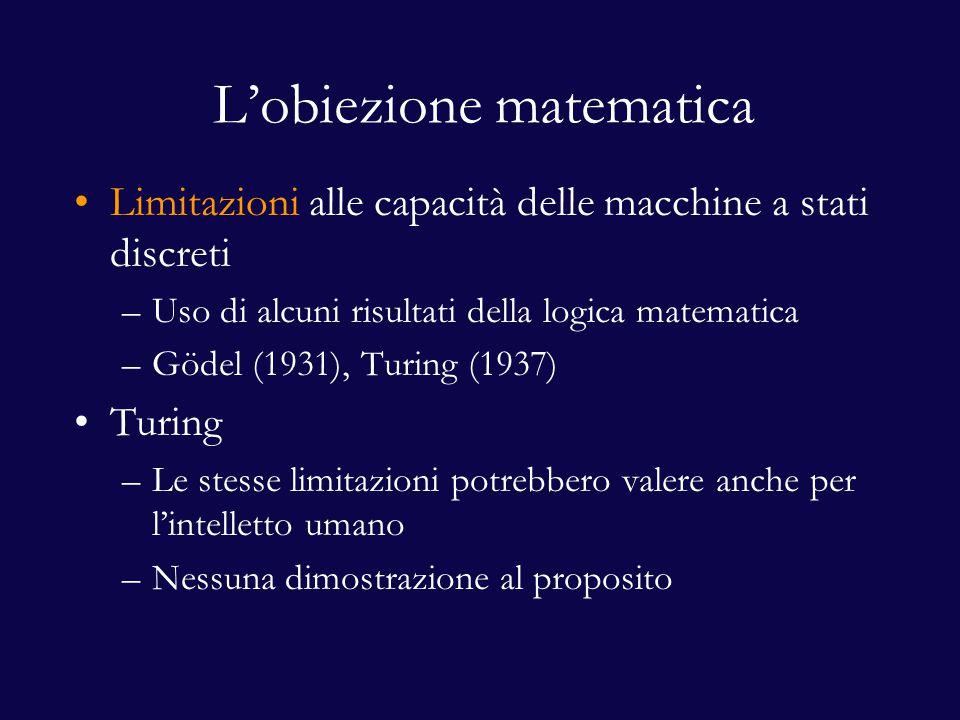 L'obiezione matematica