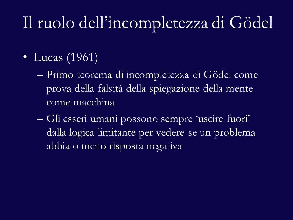Il ruolo dell'incompletezza di Gödel