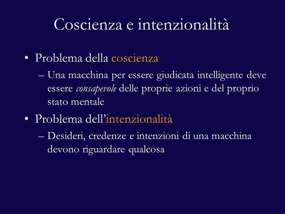 Coscienza e intenzionalità