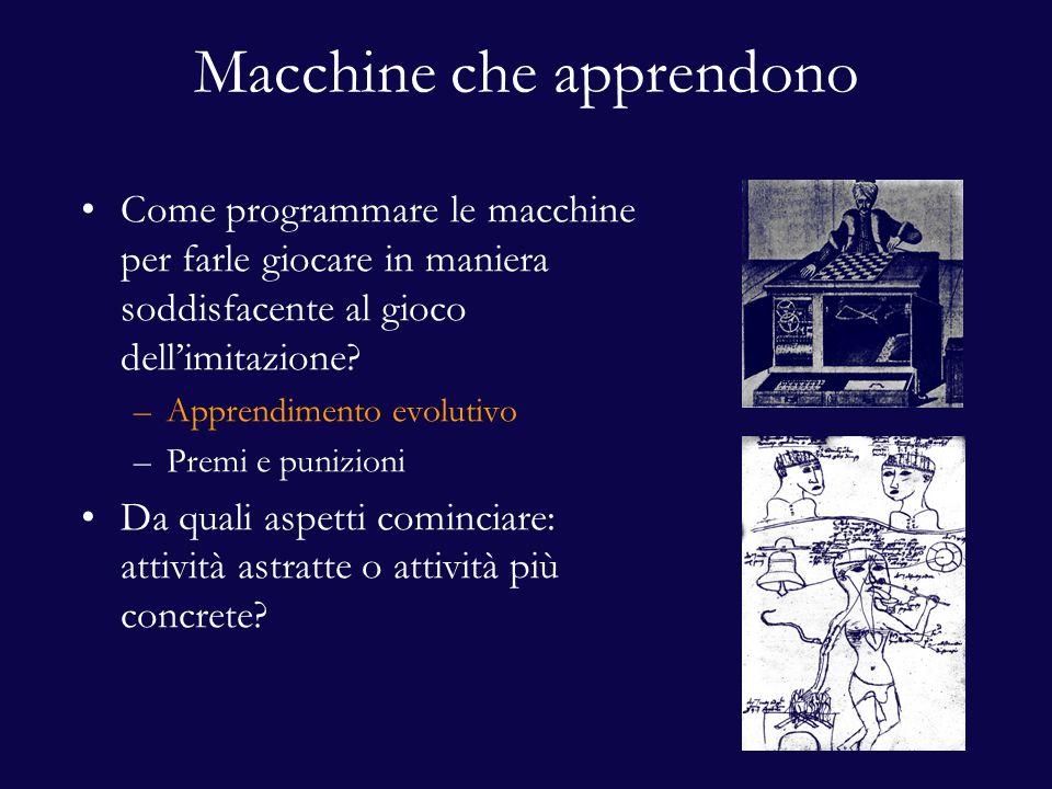 Macchine che apprendono