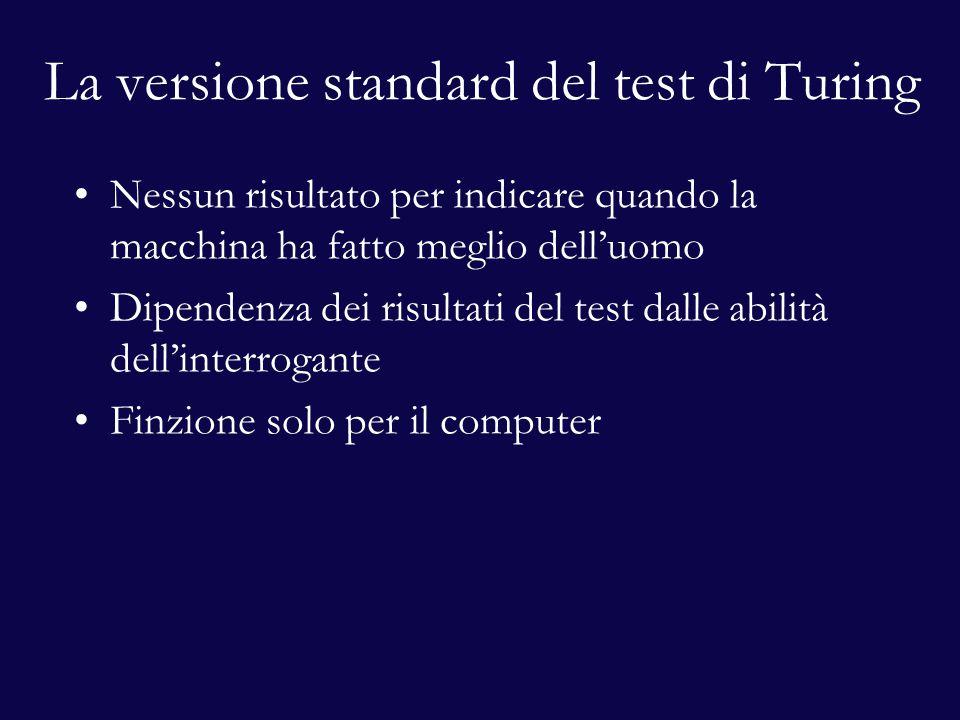 La versione standard del test di Turing