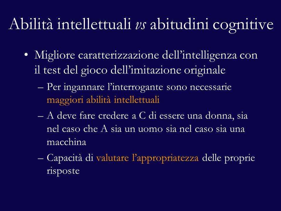 Abilità intellettuali vs abitudini cognitive