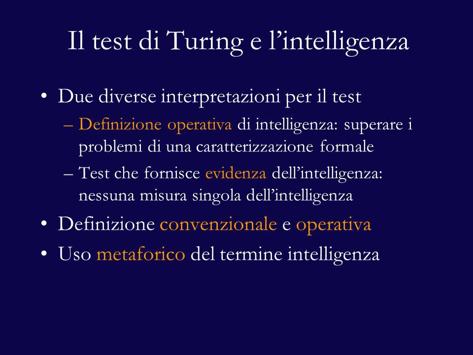 Il test di Turing e l'intelligenza