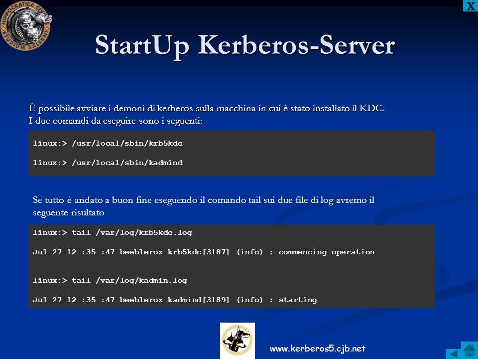 StartUp Kerberos-Server